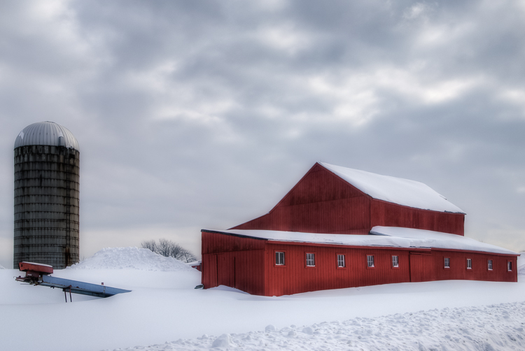 Snow Covered Farm